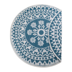 DII Blue Floral Outdoor Rug 5' Round