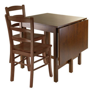 Lynden 3-Piece Dining Table With 2 Ladder Back Chairs Winsome