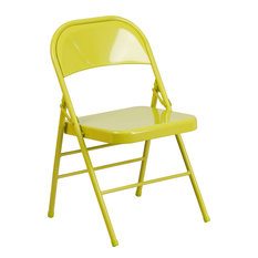 Hercules Colorburst Series Triple Braced and Double Hinged Metal Folding Chair
