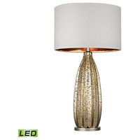Dimond Pennistone Antique Gold Mercury LED Table Lamp Polished Nickel D2533-LED
