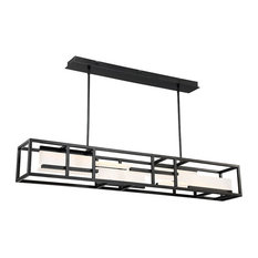 "Memory 56"" LED Linear Pendant 3000K, Black"