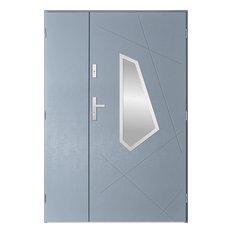 Diaz Duo Front Door, Light Anthracite, 130 cm