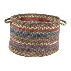 "Rhody Rug Country Jewel Basket, Bronze, 18""X12"""