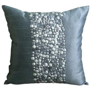 Silver Bullets, 30x30 Art Silk Gray Cushions Cover