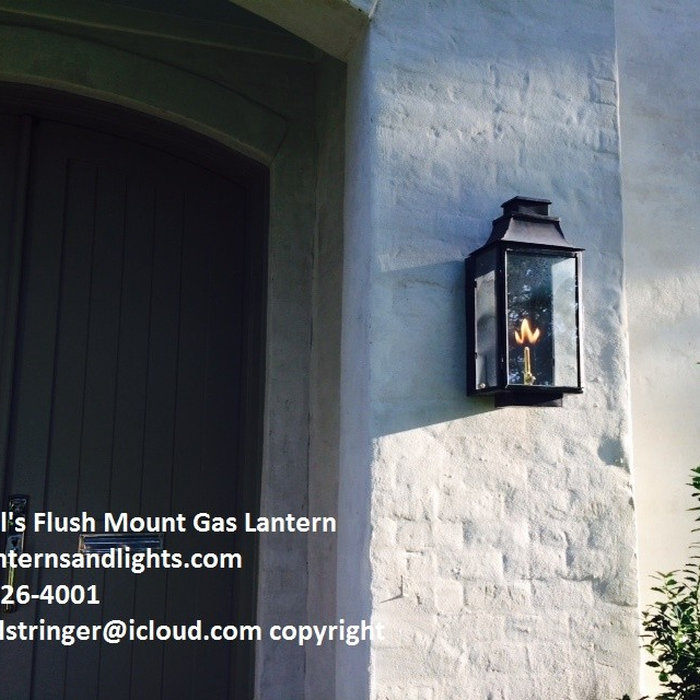Sheryl's Flush Mount Transitional Gas and Electric Lanterns