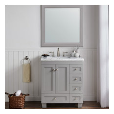 Acclaim Caroline Transitional Bathroom Vanity With Carrera Marble Counter Top