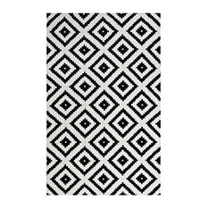Modway Alika Trellis 8' x 10' Area Rug in Black and White