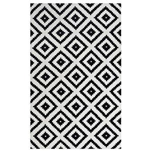 Alika Abstract Diamond Trellis 8'x10' Area Rug, Black and White