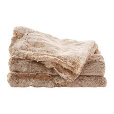 Sheridan UK Ltd - Rochard Bedcover, Birch Brown, 165x240 cm - Throws