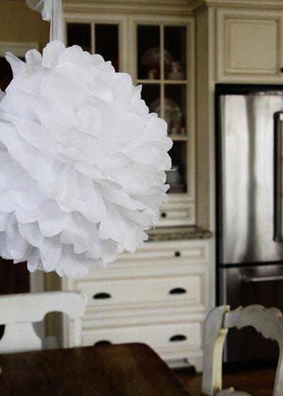 Papier Selber Machen pompon aus papier selber machen für eine luftig leichte partydeko