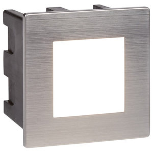 Ankle LED Indoor and Outdoor Recessed Square Light, Chrome