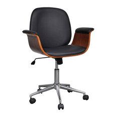 vidaXL - VidaXL Adjustable Swivel Office Chair, Faux Leather - Office Chairs