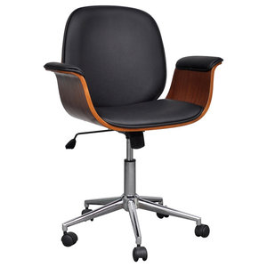 VidaXL Adjustable Swivel Office Chair, Faux Leather