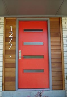 Modern And Contemporary Red Front Doors For Your Home Part 64