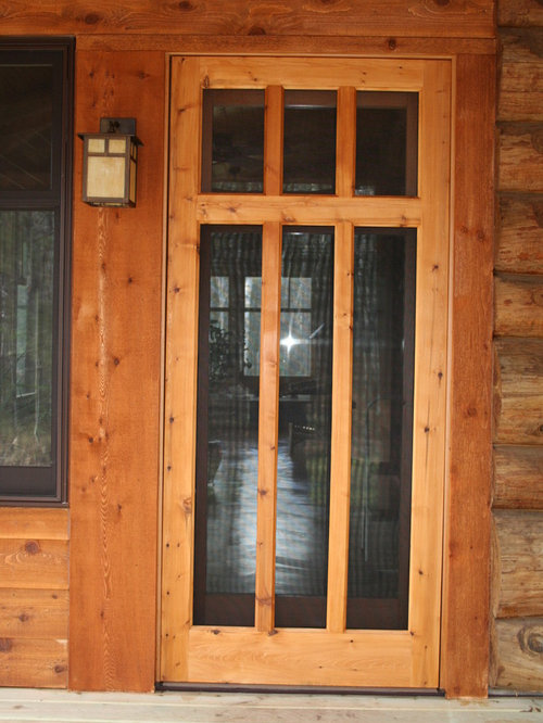 Wood screen doors for Custom made wood doors