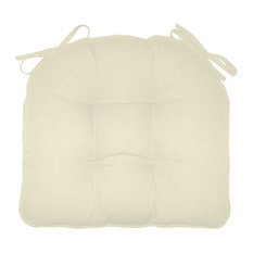 Extra-Thick Dining Chair Pads, Welted, Cotton Duck Solid Color, Latex Foam