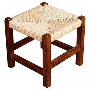 Traditional Stylish Stool, Natural Paulownia Wood