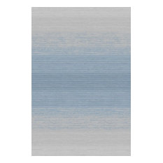 """Abani Vista Modern Area Rug, Ombre Linear Blue and Gray, 5'3""""x7'6"""""""