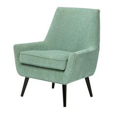 "Warhol 30"" Mid Century Modern Accent Chair, Light Aqua"