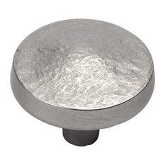 "Bedrock Knob, 1.25"" Diameter, Flat Nickel"