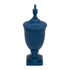 Classic and Lovely Inspired Style Ceramic Blue Urn Home Decor