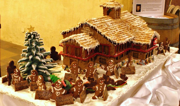 Trend A Holiday Event Features Wine and Gingerbread Houses