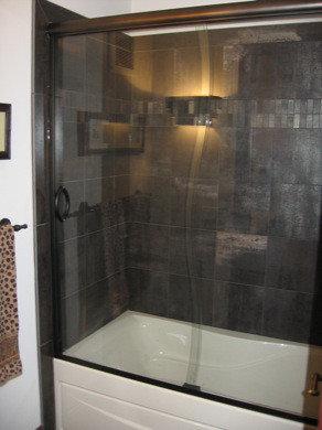 Semi Frameless Bypass Sliding Shower Doors