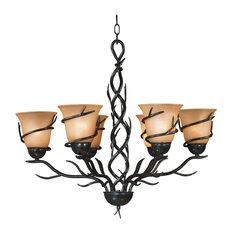 Twigs 6-Light Chandelier, Bronze Finish