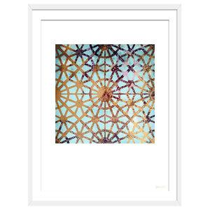 """""""More Hidden Treasures"""" Geometric Art Print, White Framed, 50x70 cm"""