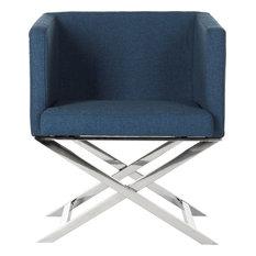 Celine Chair, Navy/Chrome