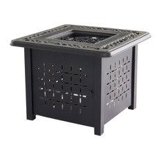 Outdoor Cast Aluminum Square Firepit Table