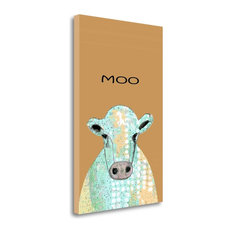 """""""Moo Cow"""" By Sarah Ogren, Giclee Print on Gallery Wrap Canvas, Ready to Hang"""