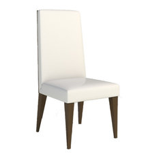Lauren Dining Chair, Set of 2, Walnut With Cream Leather