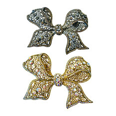 Lace Crystal Decorating Pin, Twolace