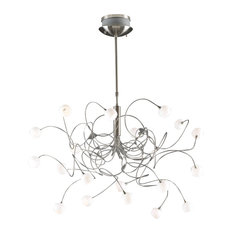 PLC 20-Light Chandelier Fusion Collection, Satin Nickel