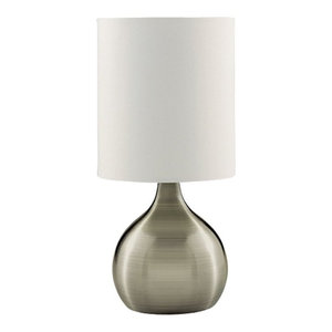 Contemporary Antique Brass Touch Dimmable Lamp