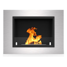 "Venice 32"" Ventless Built In Recessed Bio Ethanol Wall Mounted Fireplace"