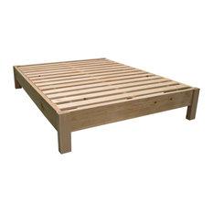 Unfinished Farmhouse Platform Bed, King