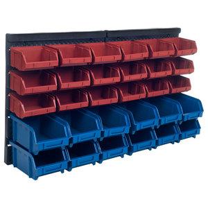 Storage Drawers, 30 Compartment Wall Mount Organizer Bins by Stalwart