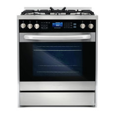 """5' Commercial-Style 30"""" Single Oven, Dual Fuel Range With 7 Functions"""