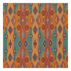 Southwestern Stripes and Diamonds Woven Novelty Upholstery Fabric By The Yard