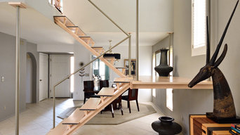 Walker staircase remodel: contemporary