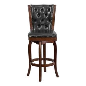 Magnificent Armen Living Martini 26 Stationary Bar Stool Jet Black Dailytribune Chair Design For Home Dailytribuneorg