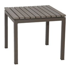 Riviera Outdoor Faux Wood End Table, White