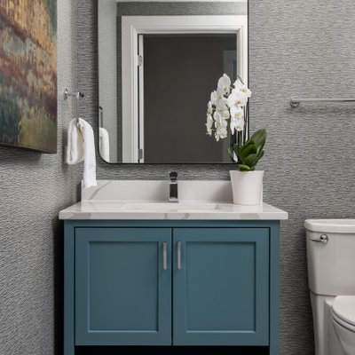 Inspiration for a transitional powder room remodel in Other