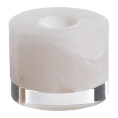 "Thirza 4"" Diameter Alabaster Tealight Candle Holder, Large"