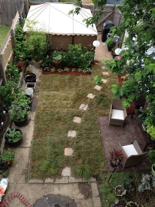Help With Ideas To Replace Grass In Small Urban Yard