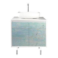 Bianchini & Capponi Materia Blue Vanity Unit, 81 cm
