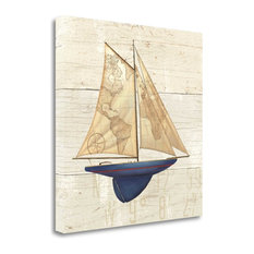 """Nautique I"" By James Wiens, Giclee Print on Gallery Wrap Canvas, Ready to Hang"
