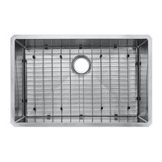 Starstar Undermount Stainless Steel Single Bowl Kitchen Sink With Grid